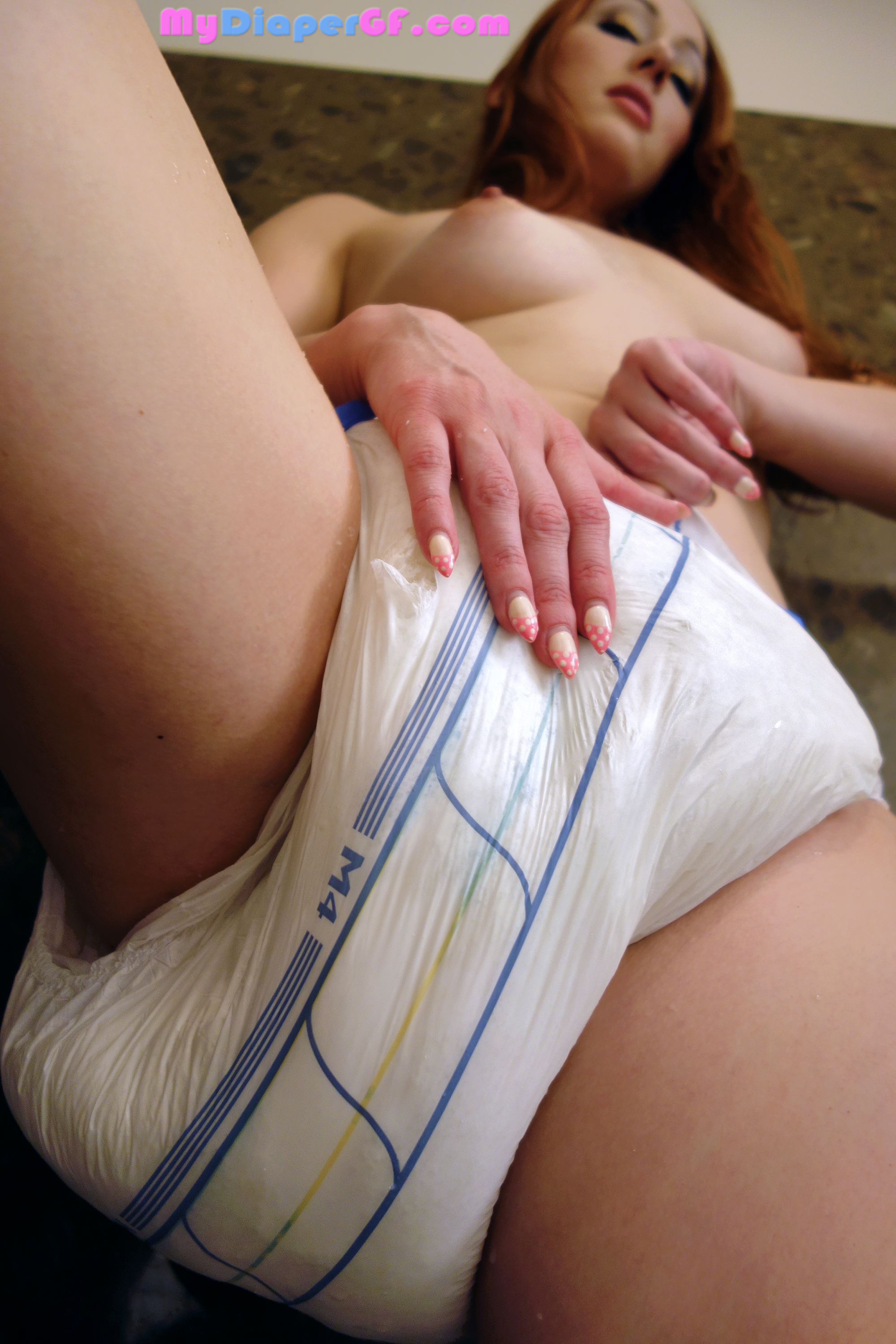 Diaper wearing upskirt